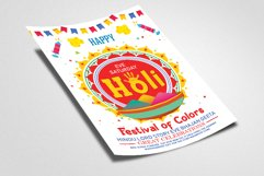 Happy Holi Festival Flyer Template Product Image 2