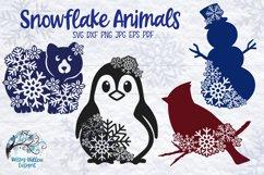 Snowflake Animal SVG Bundle   Winter Animal SVG Cut Files Product Image 1