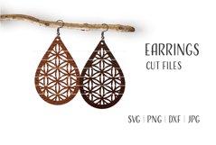 Teardrop Earrings Svg / Leather / Faux / Wood / Cut Product Image 1