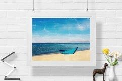 Boat And Sea - Watercolor - Wall Art - Digital Print Product Image 1