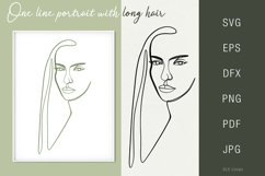 One line portrait illustration SVG PNG Face 2 Product Image 1