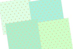 Gold Pastel Polka Dot Pattern Digital Papers Product Image 3