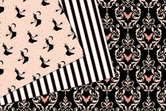 Peach and Black Halloween Digital Paper Product Image 3