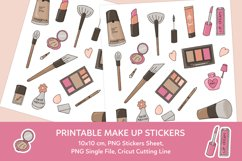 Make Up Printable Stickers Sheet Product Image 1