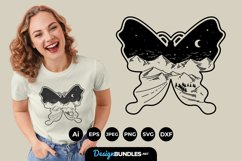 Butterfly Landscape SVG Product Image 1