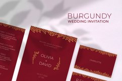 Burgundy Wedding Invitation Product Image 1