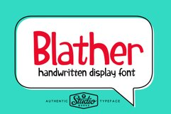 Blather | Handwritten Display Font Product Image 1