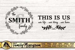 Family Monogram Bundle SVG Farmhouse Monogram SVG Bundle Product Image 5