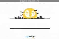 Halloween Ghosts Monogram Frame - svg, printable Product Image 2
