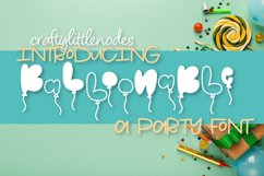Balloonable - A Hand Drawn Balloon Font Product Image 1