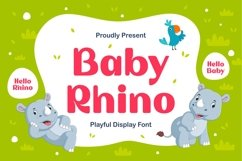 Baby Rhino - Playful Display Typeface Product Image 1