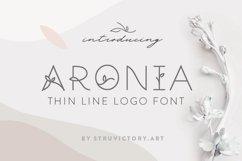 Aronia - Thin Line Logo Font Product Image 1