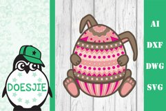 Easter bundle 3d svg dxf layered Multi layer mandala bunny Product Image 8