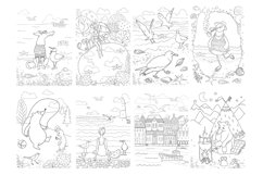 Coloring pages with funny animals, journeys and summer stuff Product Image 5