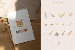 Animal Faces and Rainbow Set, Cliparts, Patterns, Alphabet Product Image 4