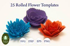 25 Rolled flowers svg, cutfiles, paper craft templates Product Image 9