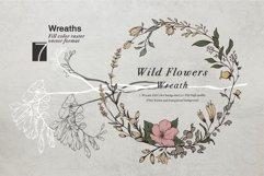 WILD FLOWERS Illustration Botanical Product Image 8