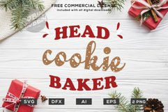 Head Cookie Baker - Christmas SVG File Product Image 1