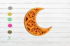 moon 3D svg,mandala moon svg,moon clipart svg,moon design Product Image 1
