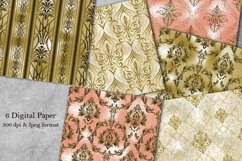Damask Patterns. Seamless Digital Papers. Scrapbook paper Product Image 1