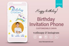 Birthday invitation, editable Canva Product Image 1