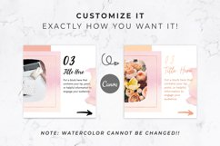 Instagram Post Carousel for Canva | Slideshow | Watercolor Product Image 4