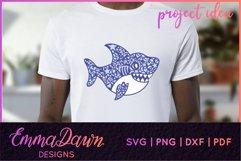 SAMMY THE SHARK SVG MANDALA / ZENTANGLE DESIGN Product Image 9