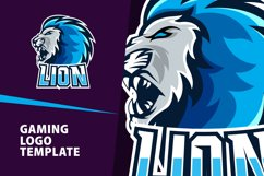 Lion Gaming Logo Template Product Image 1