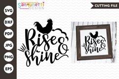 Rise & shine SVG, Farmhouse SVG, rustic SVG, home svg Product Image 1