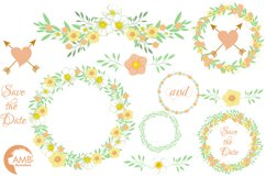 Summertime Wedding graphics, clipart, illustration AMB-1309 Product Image 4