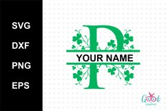 Split Letters A-Z SVG for patick day Product Image 1