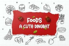Web Font Food Dingbats Font Product Image 1