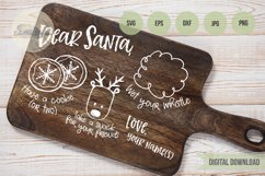 Christmas Dear Santa, Doodle Cookies for Santa Tray SVG Product Image 4
