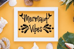 Madison's tail - A mermaid font plus nautical doodles Product Image 5