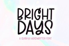 Web Font Bright Days - A Quirky Handwritten Font Product Image 1