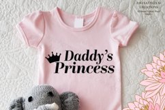 Daddy's Princess Svg, Cute Quote Product Image 1