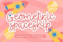 Geometric Spaceship Fun Hnadwritten Font Script Product Image 1