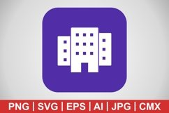 Vector Building Icon Product Image 1