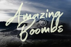 Amazing Boombs SVG Font Product Image 1