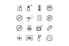 Insects and pest control vector pictograms Product Image 1