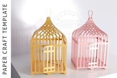 Papercraft Bird Cage / Paper Lamp /DXF Files For laser cut Product Image 2