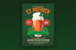 St Patricks Day Beer Party Flyer Product Image 1