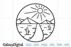 Desert SVG, Desert Scene SVG, Sun and Desert Product Image 1