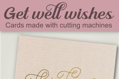 Get well wishes, single line, for foil quill and sketch pens Product Image 5