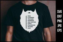 Beard size chart SVG - Funny t-shirt design Product Image 1