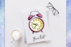 Watercolor Red Vintage Watch PNG/JPG Sublimation Downloads Product Image 2