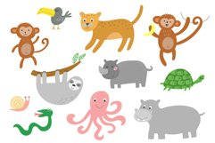 Jungle Animals Clip Art Product Image 3