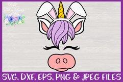 Easter | Unicorn Face SVG Cut File Product Image 3