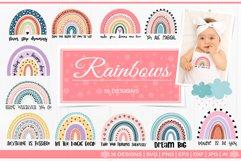Rainbow scandinavian SVG bundle Product Image 1