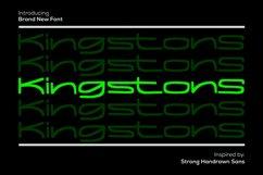Kingstons - Handrawn Sans Font Product Image 1